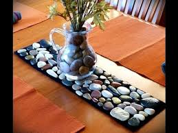 how to make table runner at home make a table runner from found beach rocks youtube