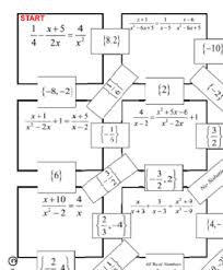 maze solve rational equations level 2 by never give up on math