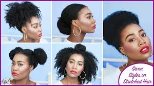 seven super easy styles on stretched hair type 4a 4b 4c hair