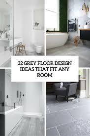 Flooring Ideas For Bathroom 32 grey floor design ideas that fit any room digsdigs