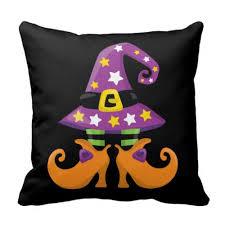halloween throw pillows grinning ghouls