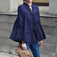 baby doll blouses qbale plus size tops 2017 fashion vogue linen cotton