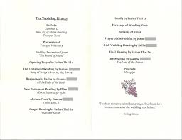 wedding church programs bicoastal diy program inspiration