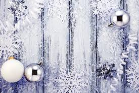 new year theme tree white and silver decorations stock