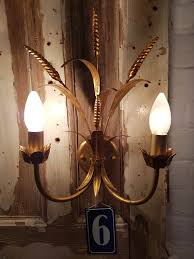 junk deluxe gold wheat sheaf wall lights