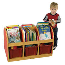 Toddler Bookcase Colorful Essentials 2 Sided Book Stand For Toddlers At Tomorrows