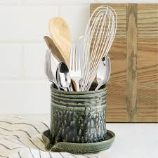 utensil draining caddy spoon holder uncommongoods