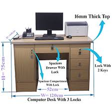 Computer Desk Lock Computer Desk In Beech With 3 Locks 4 Home Office Table