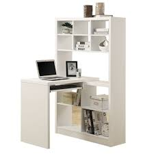 2 in 1 this white hollow core corner desk is also a