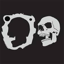 amazon com custom skull stencil 4 skull center airbrush stencil
