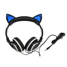 light up cat headphones kawaii light up cat ears headphone sd01766 headphones earbuds