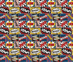 comic wrapping paper modern comic book pattern small fabric seasonofvictory