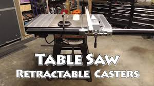 table saw mobile base retractable casters for table saw mobile base youtube