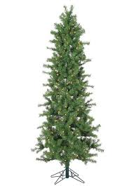 vickerman 7 slim spruce artificial tree with 300 clear