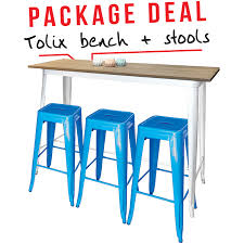 Yellow Bar Table Tolix Bar Table White Yellow Stools Package Deal V4 Jpg