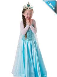frozen elsa anna queen princess costume party dress