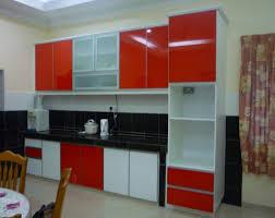 red kitchen cabinets black countertops kitchen decoration