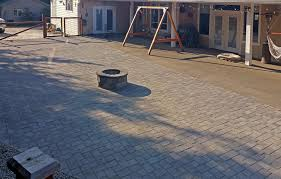 Patio Interlocking Pavers by Paver Patio Extension In Boston Harbor Ajb Landscaping U0026 Fence