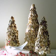 dried potpourri trees featuring carolyn from homework handmade