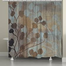 Brown And Gold Shower Curtains Spa Blue And Gold Shower Curtain Laural Home