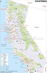 Santa Ana California Map California Map 3rd Largest State In The Us Having Area Of 163 696