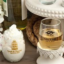 stemless wine glasses wedding favors personalized stemless wine glass 5 5 oz favor bottles jars