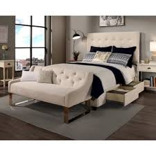Bedroom Sofa Bench Republic Design House Archer Ivory Tufted Upholstered Headboard
