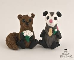 squirrel cake topper squirrel and opossum cake topper my custom cake topper