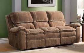 Double Recliner Homelegance Reilly Sofa Double Recliner Brown Textured Plush