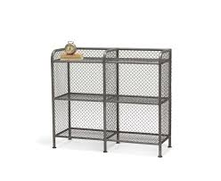 Wire Storage Unit Low Lad Sideboard Industrial Bookcase Loaf