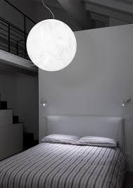 Bedroom Wall Lights With Switch Private Residence In Modena Moon Suspension Lamp And Mira Switch