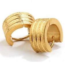 gold ear rings images mens gold earrings ebay