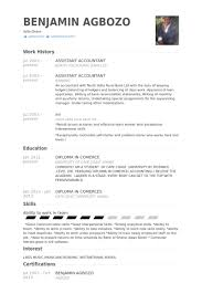 Sample Resume Of Cpa by Assistant Accountant Cv örneği Visualcv özgeçmiş örnekleri