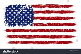 United States American Flag American Flag Grunge Style Vector Image Stock Vector 594384437