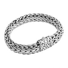 bracelet silver price images Sterling silver bali weave filigree barrel clasp bracelet 15mm jpg