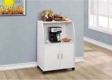 microwave cart with hutch white carts storage doors rolling wooden