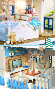 Dolls House Furniture Diy Diy 1 12 3d Wooden Doll House Miniatura Furniture Wood Dolls Light