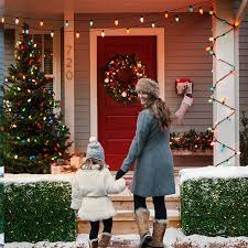 decorating front porch with christmas lights christmas door decorations