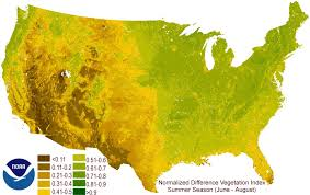 United States Climate Map by United States Normalized Difference Vegetation Index Seasonal