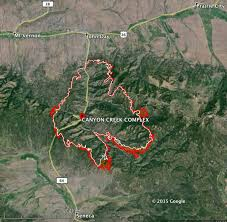Map Of Central Oregon by Canyon Creek Complex Of Fires In Central Oregon U2013 Wildfire Today