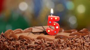Birthday Cake With A Number 5 Candle Stock Video Footage Videoblocks