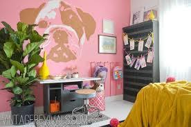 Pink Bedroom Walls Dylan U0027s Dream Room Bedroom Reveal U2022 Vintage Revivals