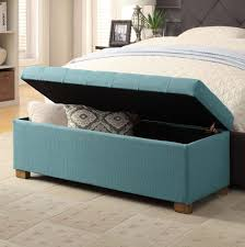 Blue Storage Ottoman Attractive End Of Bed Storage Ottoman Foot Of Bed Storage Bench
