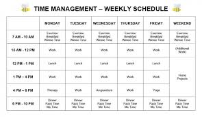 time management my weekly schedule 2014 pretty neat living