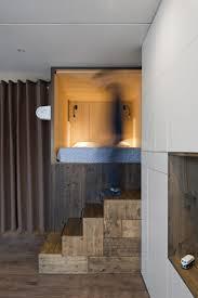 studio bazi u0027s tiny self designed home features a wooden