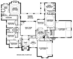 european style house plan 5 beds 4 baths 4260 sq ft plan 141