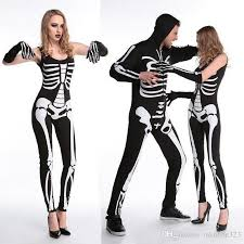 skeleton costume new living dead skeleton costume printed black ghost