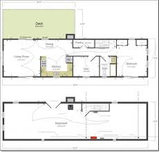 home design small cottage plan with walkout basement floor
