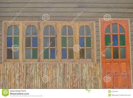door windows wall house pattern stock photo image 53709794