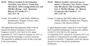 bureau d assurance du canada supreme court canada on appeal judgment rendered today